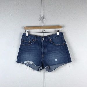 Levi's l 501 Button Fly Distressed Cut Off Shorts
